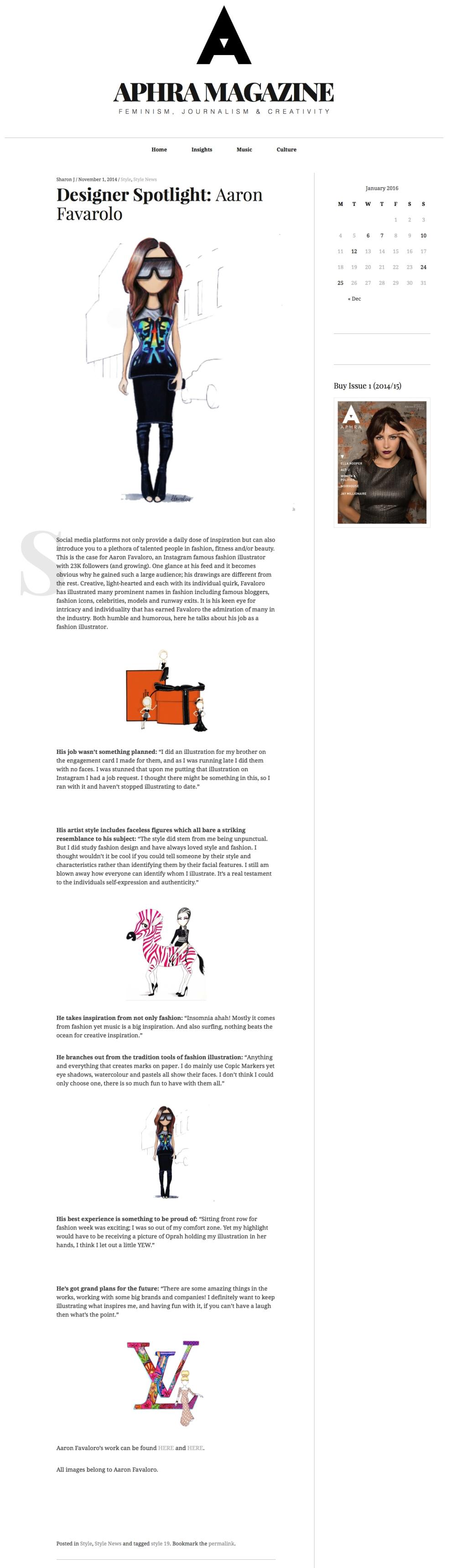 Designer Spotlight: Aaron Favarolo – Aphra Magazine