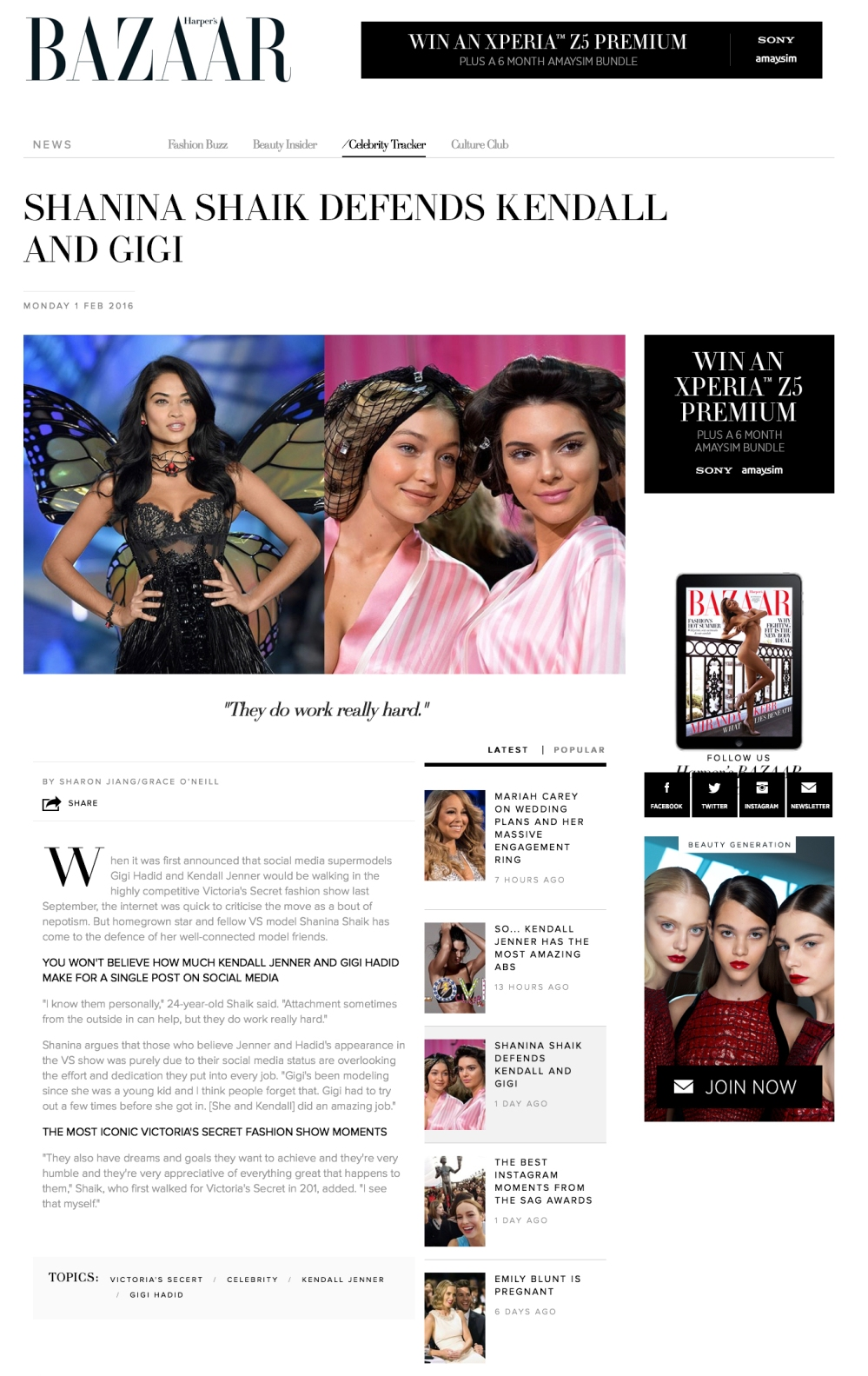 Harper's Bazaar VS Models